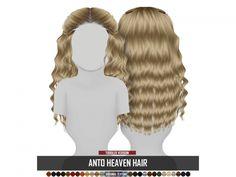 Toddler's Anto Heaven Hair by Redhead SIms Toddler Hair Sims 4, Toddler Girls, Sims 4 Children, Children Hair, The Sims 4 Skin, Sims 4 Pets, Sims 4 Expansions, Sims 4 Traits, Sims 4 Black Hair