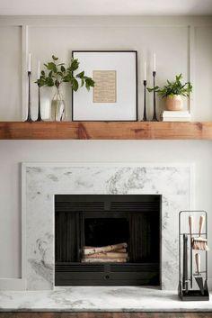 Farmhouse Fireplace Mantels, Fireplace Remodel, Modern Fireplace, Contemporary Fireplaces, Decorative Fireplace, Traditional Fireplace, Fireplace Surrounds, Fireplace Design, Fireplace Ideas