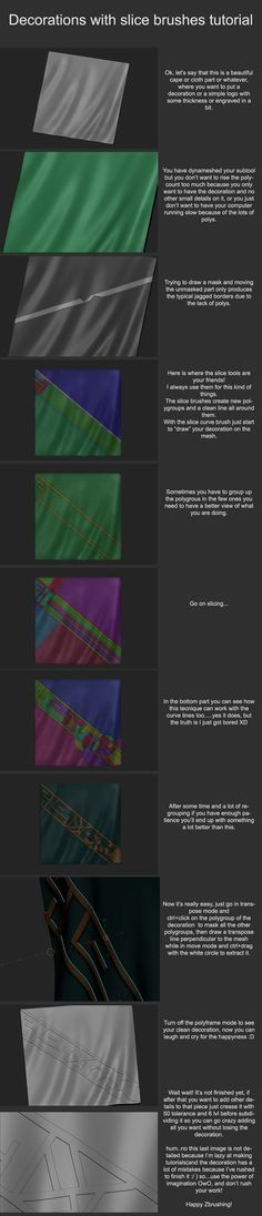 Zbrush Tutorial:Decorations with slice brushes by Dantert on DeviantArt