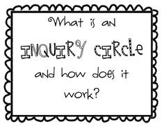 Getting Started with Inquiry Circles (general idea that could be applied to a specific discipline)