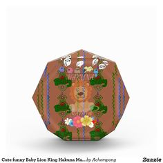 Cute funny Baby Lion King Hakuna Matata latest edg Award Size: Small Acrylic Octagon Award Give recognition to employees, teammates, or anyone that deserves it with the gem-cut faceted acrylic octagon award from Zazzle.