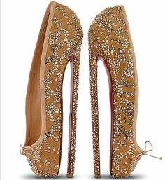 Apparently Christian Louboutin created these pointe-shoe stilettos for the English National Ballet.   Really?????