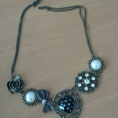 Necklace Fun hearts bows Accessories