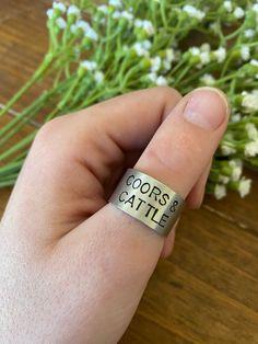 Ring Crafts, Thumb Rings, Bending, Boho Rings, Metal Stamping, Country Girls, Cattle, Rust, Rings For Men