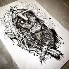 [New] The Best Tattoo Ideas Today (with Pictures) - These are the best tattoo ideas today (with pictures). Skull Tattoo Design, Tattoo Design Drawings, Skull Tattoos, Tattoo Sketches, Black Tattoos, Body Art Tattoos, Tattoo Designs, Norse Tattoo, Viking Tattoos