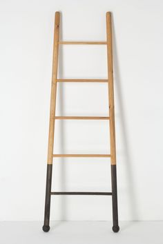 Submergent Ladder - dip the bottom rungs of a wooden ladder in paint and lean against a wall