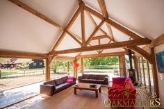Beautiful and bespoke oak framed garden room.