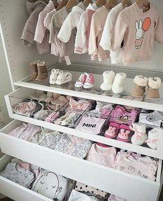 Baby girl closet ideas baby closet organization tips and nursery Baby Bedroom, Baby Room Decor, Nursery Room, Girl Nursery, Nursery Ideas, Room Baby, Garden Nursery, Twin Baby Rooms, Baby Room Design