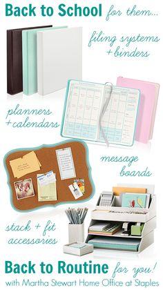 Back to School Organization with Martha Stewart Home Office | #BacktoSchool #MarthaStewart #I'mSoJealousOfMartha