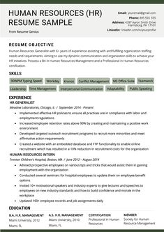 Human Resources Manager Resume Summary Beautiful Human Resources Hr Resume Sample & Writing Tips Hr Resume, Job Resume Format, Resume Summary, Manager Resume, Resume Tips, Cv Format, Resume Ideas, Sample Resume, Internship Resume