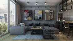 Loft House, Nordic Style, Scandinavian, Couch, Living Room, Table, Furniture, Kitchen Ideas, Design