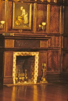 Paneling and fireplace detail
