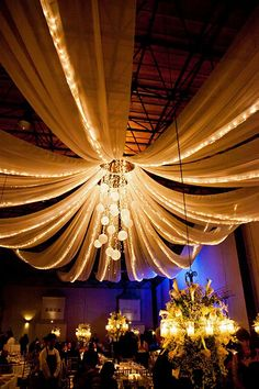 Inspiration:  tulle, lights, focal point