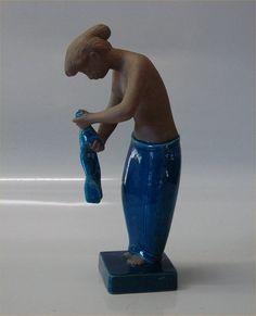 "Johannes Hedegaard statue Royal Copenhagen Stoneware. 21424 RC ""Martha"" | eBay"