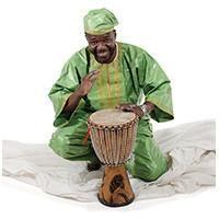 Medium-sized djembe drum