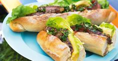 Celebrate Australia Day outdoors with these lively steak sandwiches to go!
