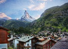 While taking the train up a nearby mountain in the town of Zermatt, there is one…