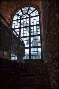 Frontfenster in der St.Michaeliskirche, Hamburg, Germany