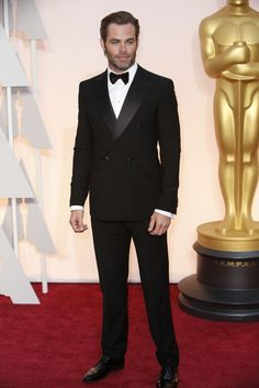 Red Carpet Watch: Oscars 2015 - NYTimes.com   Chris Pine  Mr. Pine in Giorgio Armani.