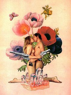 """Lovers and Flowers"", Eugenia Loli #collage"