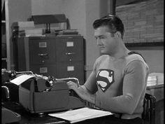 George Reeves as Superman, 1950s.