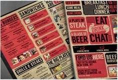 These restaurant menu PSD templates produce different designs without losing the identity of a restaurant. Restaurant Menu Template, Menu Restaurant, Restaurants, Bbq Catering, Bbq Menu, Menu Design, Psd Templates, Dinner Plates, Garage