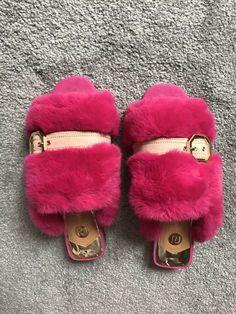 e23592d8cfc0 River Island Pink Fluffy Fur Slider Slippers! UK6! Sold Out!