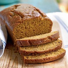 Pumpkin-Honey Beer Quick Bread - Just made this for a party. Super easy and SO delicious P. I used blue moon's pumpkin ale with an extra teaspoon or two of honey instead of honey beer :) Brownie Desserts, Pumpkin Recipes, Fall Recipes, Top Recipes, Thanksgiving Recipes, Honey Beer Bread, Healthy Pumpkin Bread, Bob Evans Pumpkin Bread Recipe, Canned Pumpkin