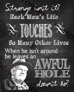 It's a Wonderful Life Clarence Quote  by WonderofWords on Etsy, $3.00