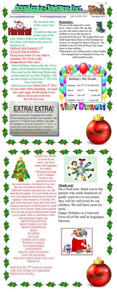 How to Create a Daycare Newsletter Great idea, a monthly or semi ...
