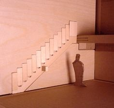 Projects by Aaron Tang at Cloroflot.com. Stowable/collapsible staircases.  Opens up floor space.  Might work in tiny houses/lofts