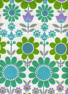 flickr fav. more 70's vintage wallpaper love. needs its own board