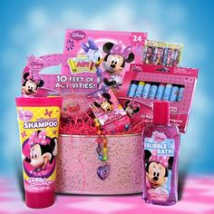 Mini Mouse Accessory Basket Perfect for Get Well or Birthday… Birthday Gift Baskets, Birthday Gifts, Kids Toy Shop, Best Christmas Presents, Easter Gift Baskets, Easter Traditions, Mini Mouse, Bunny Crafts, Frozen Birthday Party