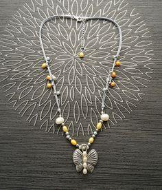 Collier Papillon Perles Eau Douce et Argent 925 Fait par KRAMIKE