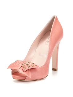 Open Toe Bow Pump by RED Valentino on Gilt.com