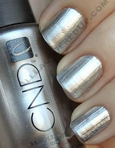 CND-Shellac Silver Chrome nail polish.  I want to do this as a french manicure