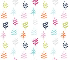 Sprigs colorful fabric by jillbyers on Spoonflower - custom fabric