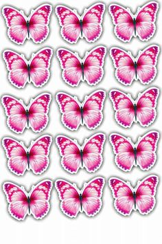 borboletas Butterfly Drawing, Diy Butterfly, Butterfly Pictures, Butterfly Party Favors, Butterfly Cupcakes, Scrapbook Stickers, Planner Stickers, Ramadan Crafts, Blue Nose Friends