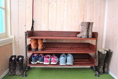 Keep your shoes in a hip cool place! A 4 level rack will hold 12 pairs of mens shoes, that means a bunch more ladies shoes! Additional levels can be