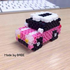 3D Mini Cooper hama perler beads by babe_cn - Pattern: http://www.pinterest.com/pin/374291419005621517/