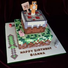 Minecraft Cake , pig, stampy longnose, sheep and TNT in sugar: