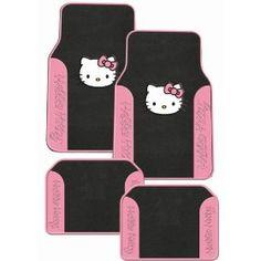 Hello Kitty Sanrio Pink Front & Rear Carpet Auto Car Truck SUV Mats $39.95