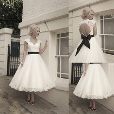 Cheap gown hair, Buy Quality cap fuel directly from China cap sleeve prom dress Suppliers: White Ball Gown Short Wedding Dresses Lace Corset Tea Length Black Ribbon Bow