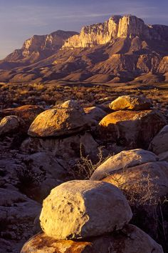 Sunset on Guadalupe Mountains by Erik Pronske, via 500px; Guadalupe Mountains National Park, Texas