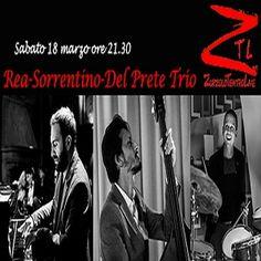Andrea Rea al piano, Daniele Sorrentino al contrabbasso e Luigi Del Prete alla batteria si esibiranno allo Zurzolo Teatro Live. Un appuntamento da non perdere. #weekend #jazzmusic #Napoli