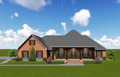 42 Ideas House Plans Acadian Bonus Rooms For 2019 One Level House Plans, House Plans One Story, Ranch House Plans, Best House Plans, Story House, Small House Plans, House Floor Plans, Southern House Plans, Country House Plans