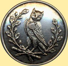 Silvered Brass Livery Owl