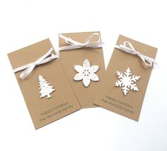 simple and easy gift tags, ook een idee voor een leuke kerstkaart