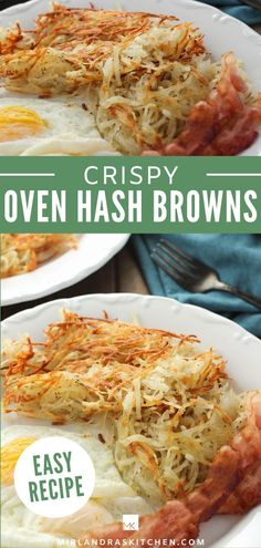 Did you know you can make amazing, crispy hash browns in the oven? This recipe has plenty of flavor but isn't greasy. Your brunch guests will love it! Breakfast has never been so easy! #breakfast #brunch #easy #holiday #potatoes Quick Recipes, Amazing Recipes, Side Dish Recipes, Potato Recipes, Brunch Recipes, Delicious Recipes, Breakfast Recipes, Dinner Recipes, Healthy Recipes