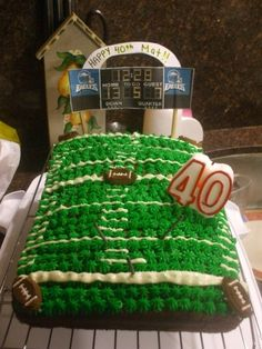 40th birthday cake for a football fan!
